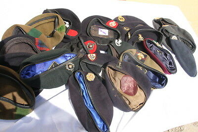 Collection Of 26 Uk Army Raf Rn Baretts  Lot Of 26 Pcs