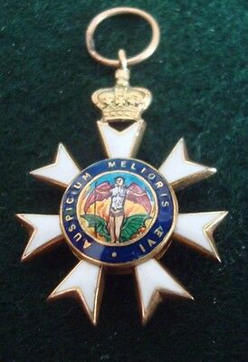 EARLY MINIATURE MEDAL ENAMELLED Most Distinguished Order of Saint Michael