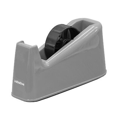 Initiative 25mm Grey Bench Tape Dispenser Heavy Duty Desktop Packing Cellotape
