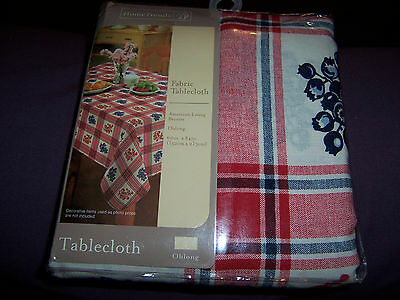New Home Trends Red White & Blue Berries Cloth Tablecloth Oblong  60 X 84""