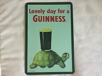 COOL BREWERIANA: Lovely Day For a Guinness Metal Beer Sign NEW 8 x 11-3/4