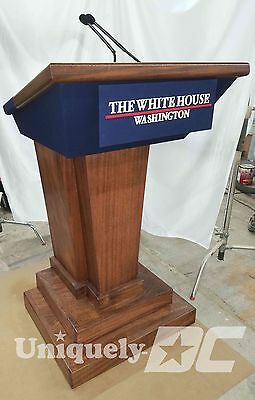 The White House Press Briefing Room Lectern / Podium Replica  Solid Mahogany
