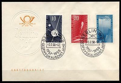 Internationales Geophysikalisches Jahr 1957/58. FDCx3W. DDR 1958