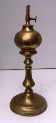 """Vintage French Brass Whale Oil Lamp by """"Gardon"""""""