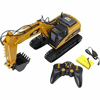 RC Excavator Construction Tractor Metal Shovel Full Functional Professional 15CH