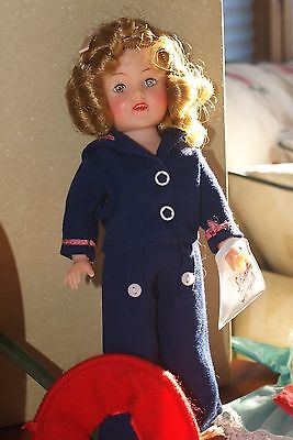 Vintage Vinyl Shirley Temple with extra TAGGED outfits