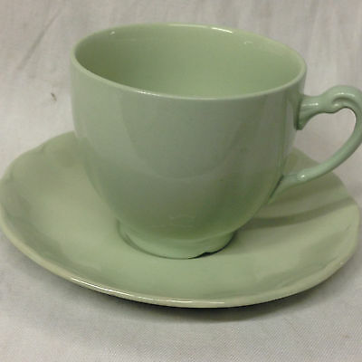 George Ws Petal Ware Petalware Cup & Saucer 10 Oz All Light Green
