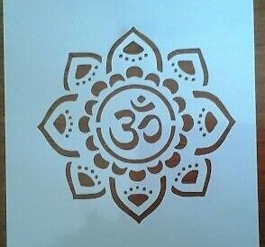 Mandala Om Sanskrit Mylar Stencil Reusable Airbrush Art Craft Wall Stencil