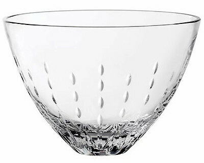 """Monique Lhuillier Modern Love 10"""" Crystal Bowl Royal Doulton New In Box"""