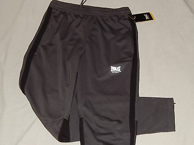 NEW Everlast Boxing MEN'S Gray Athletic Breathable Sweat Pant Mesh Gym Running