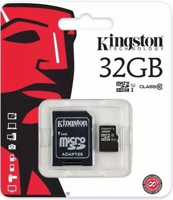 Kingston 32gb SDXC Micro Sd Card UHS-I 45mb/sec class 10 with Sd Card Adopter