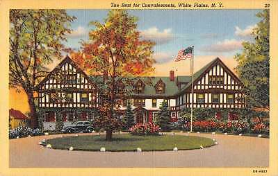 White Plains New York Convalescent Rest Home Antique Postcard K64514