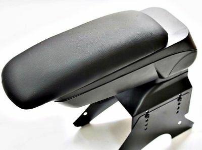 Black Eco Leather Padded Armrest Center Fit For Vauxhall Opel Astra H 2005 Box