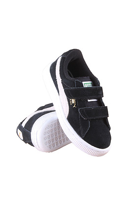 356274-01 Kids Toddler Suede 2 Straps Kids Puma Black White