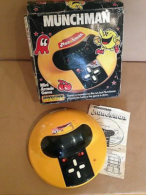 Grandstand 11138 munchman electronic game Tomy Boxed classic console game