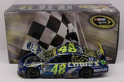 Jimmie Johnson #48 2016 Lowes Homestead Raced Win 1/24 Scale In Stock Free Ship