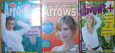 3 ARROW WORD SEARCH MAGAZINES MOST WITH 90+ PUZZLES WITH ANSWERS SET no 33