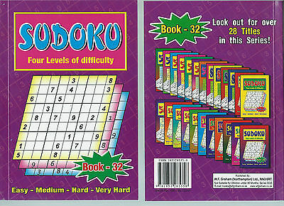 Sudoku Book 110+ Puzzles A5 Size Book Brand 4 Levels Of Difficulty Book 32