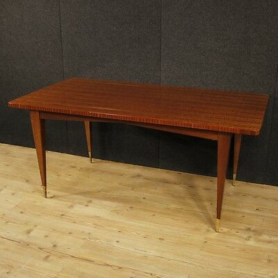Extendable dining table design furniture mahogany wood modern style vintage 900