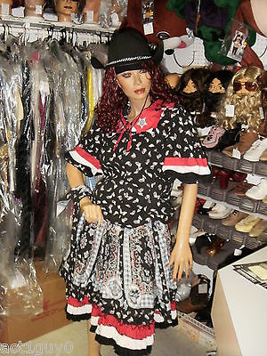 Lot Of 5 Ladies Square Dancing Outfits Country Western- Costume- Excellent Cond.