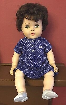 "Vintage Rare BLACK HAIR TOODLES BABY DOLL American Character 21"" Flirty Eyes"
