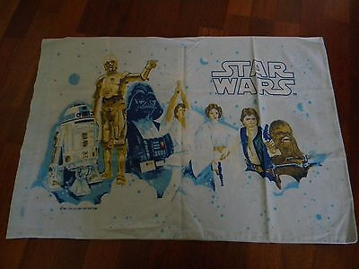 Vtg Star Wars Pillowcase Double Sided 1977 Standard Size