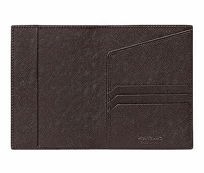 Montblanc 113233 Sartorial Passport Holder Italian Tobacco Leather New w/Box