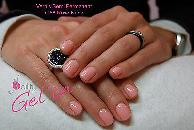 Vernis Semi Permanent NAILITY UV/LED/CCFL n°58  Rose Nude 7ml GEL POLISH USA