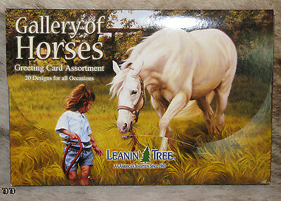 LEANIN TREE Gallery of Horses 20 Greeting Card Assortment ~ 20 designs ~#90611