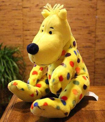 Kohl's Cares Spotted Dog Put Me in the Zoo Yellow Polka Dot Plush Dr. Seuss EUC