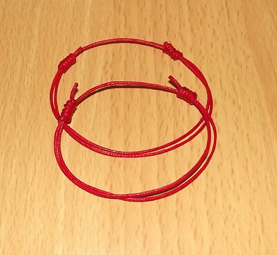 2  Lucky Red Cord Friendship Wristbands Urban Fashion Bracelet