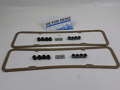 Victor SBC Valve Stem Seals & Cover Gaskets for Chevy 265 283 302 305 327 350