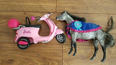 Barbie scooter and Horse