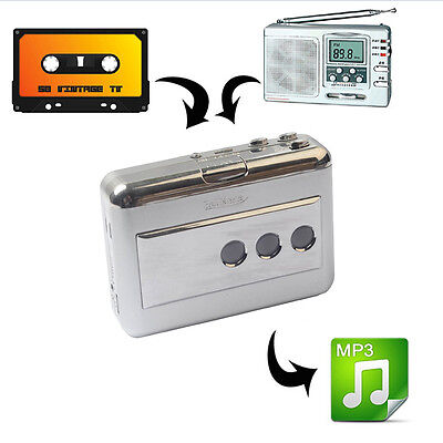 Portable Music 128Kbps Tape to USB Flash Disk Cassette to MP3 CD Converter