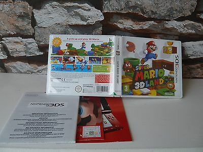 Nintendo 3Ds : Super Mario 3D Land ***no Game*** Case/manual Only.