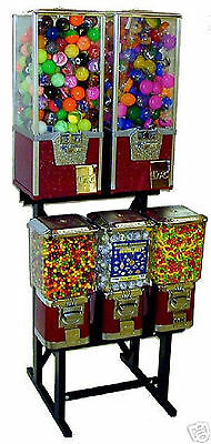 Vending Machine Toy Capsule Gumball Candy Vending Rack Stand 5-In-1 Combo