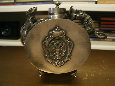 Russian Silver Inkwell 1844