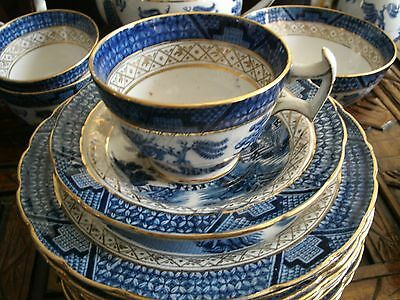 Booths Real Old Willow Gold Tea Set 1906-21