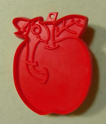 Hallmark Richard Scarry Worm in Apple Red Plastic Cookie Cutter EUC