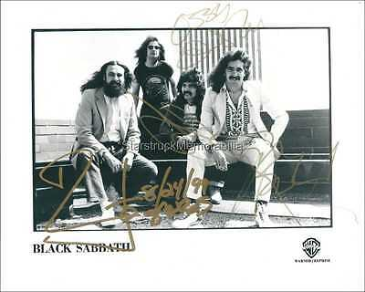 Black Sabbath Autographs *Paranoid, Master of Reality* Hand Signed 10x8 Photo
