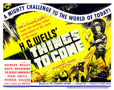 Things To Come Lobby Title Card Poster 1936 Raymond Massey Sir Cedric Hardwicke