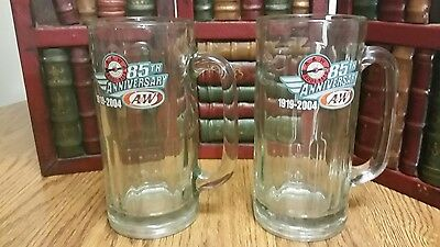 2 A&W Root Beer 85th Anniversary 1919-2004 Mugs