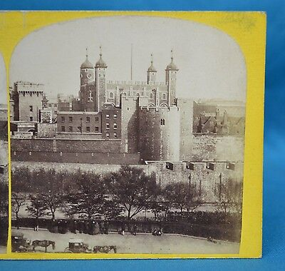 Scarce 1860s Stereoview Photo The Tower Of London 14 General View J Davis Burton
