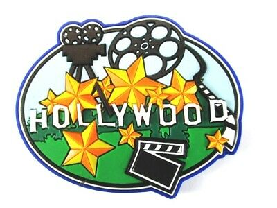 Hollywood Film Los Angeles USA Souvenir Rubber Magnet,Amerika,Neu (144)