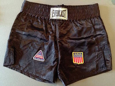 1986 Mike Tyson Fight Worn Boxing Trunks v Marvis Frazier - Asst. Manager LOA.