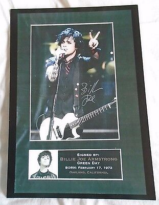 Green Day A4 Print Signed by Lead Singer Billie Joe Armstrong