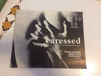 Caressed Original Pressbook Film Festivals 1965 Sexual