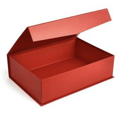 Luxurious Magnetic Gift Box Red Cardboard. Perfect For Birthdays Weddings Xmas