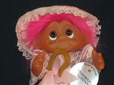 """7 3/4"""" 1993 Storybook Collection Norfin Pink Haired Bo-Peep W/staff & Tag U358"""