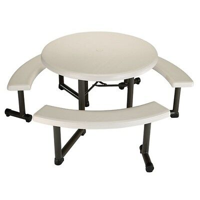 Lifetime Picnic Table 22127 44-inch Round Top Swivel Benches